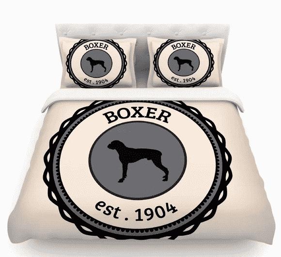 Boxer dog duvet cover from Wayfair.com