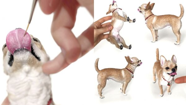 Artist Creates Stunningly Realistic 3D Sculptures of Dogs