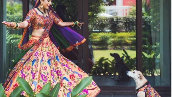 Couple Includes Dog in Dreamy Traditional Indian Wedding