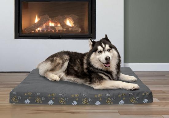 husky sdraiato sul tappetino rinfrescante per cani di Furhaven