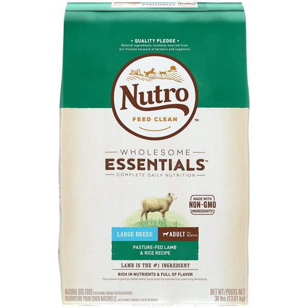 nutro wholesome essentials large breed lamb and rice dog food kibble