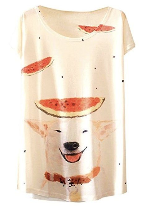 watermelon shiba inu tshirt amazon