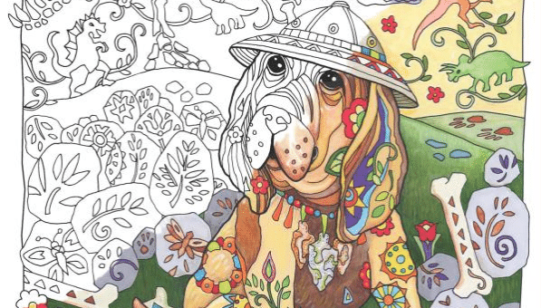 20 Stress-Busting Dog Coloring Books for Adults