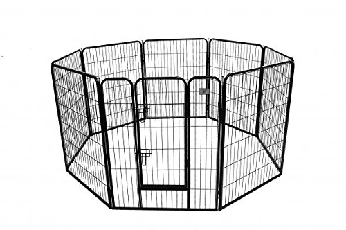 This Strong, Secure Dog Exercise Pen Is Made Of Steel Fencing Panels Coated  To Prevent Rust And Corrosion. Each Panel Is 40u2033 High, So Your Excitable ...