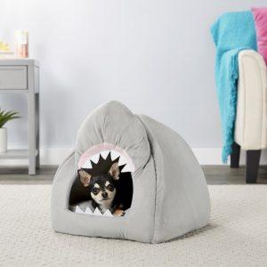 Frisco novelty shark-shaped cozy dog bed