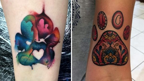 13 Beautiful Paw Print Tattoos That Might Just Convince You to Get Inked