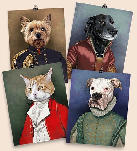 f375b0a6e36d Go big or go home with one of these custom pet paintings by Homme Sur La  Lune. There's a world of other custom portrait options here, from spaceman  to ...