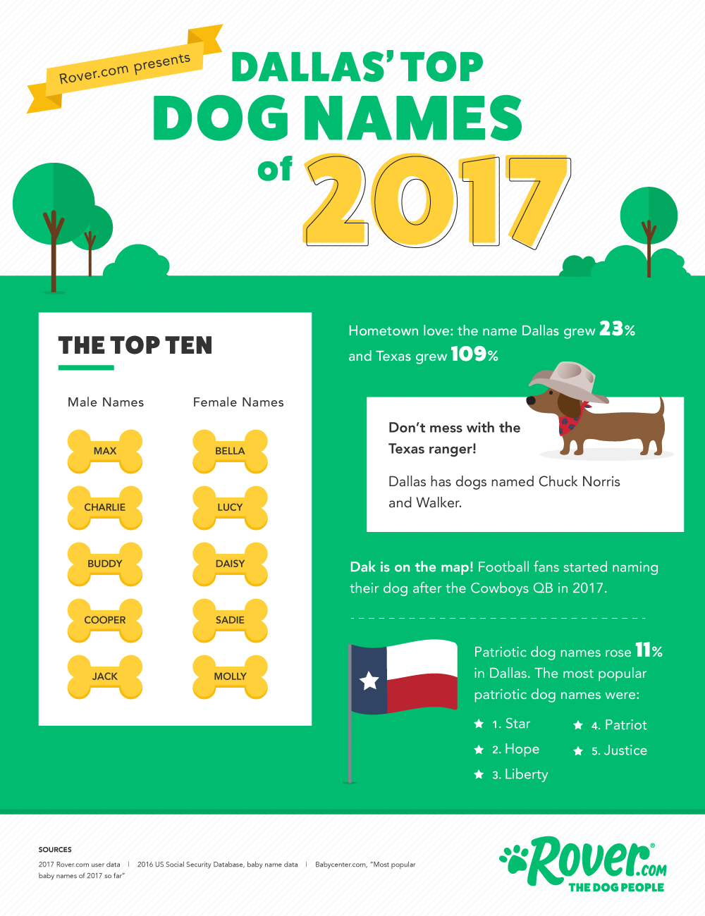 Dallas' Top Dog Names for 2017   The Dog People by Rover com