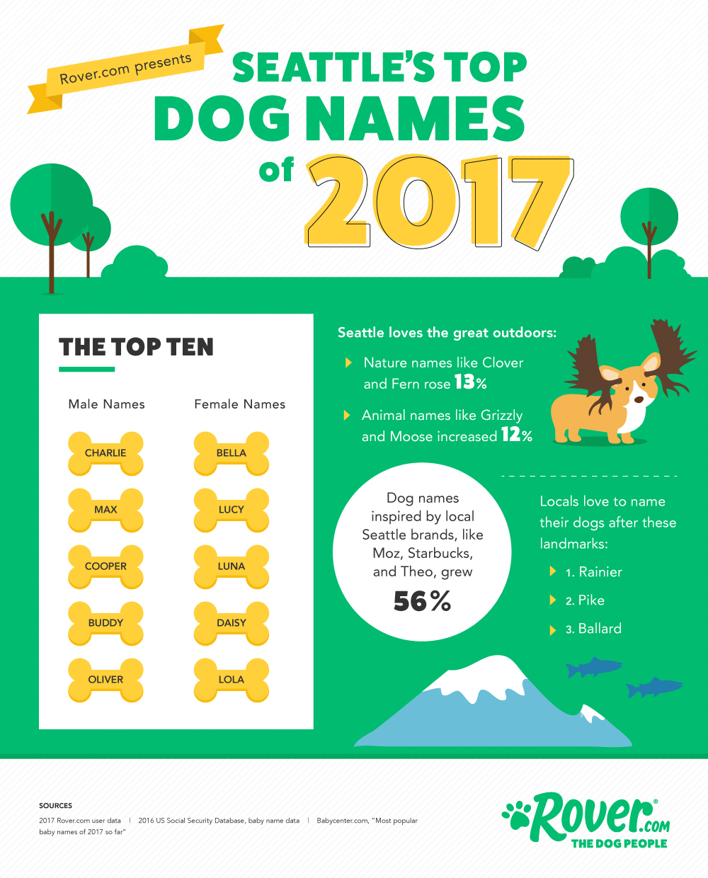 Seattle's Top Dog Names Of 2017
