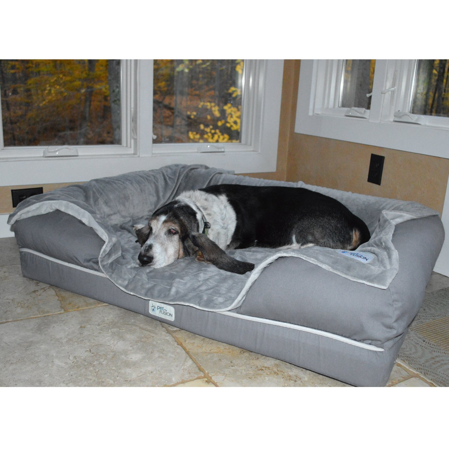 We Tested This Deluxe Memory Foam Pet Bed And Our Dogs Got