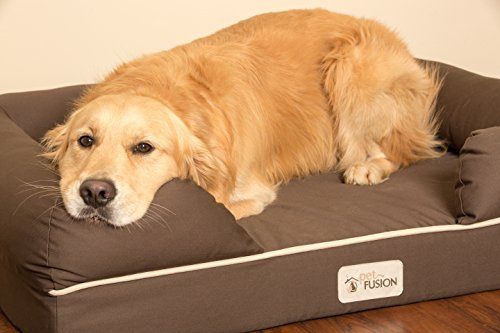 PetFusion Waterproof Memory Foam Dog Bed