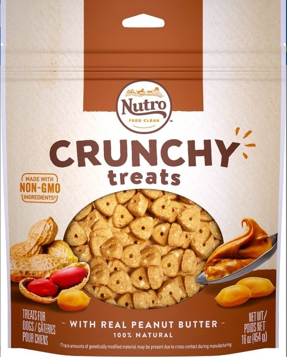 A package of Nutro peanut butter treats