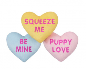 Frisco plush heart toy trio gifts for dog lovers