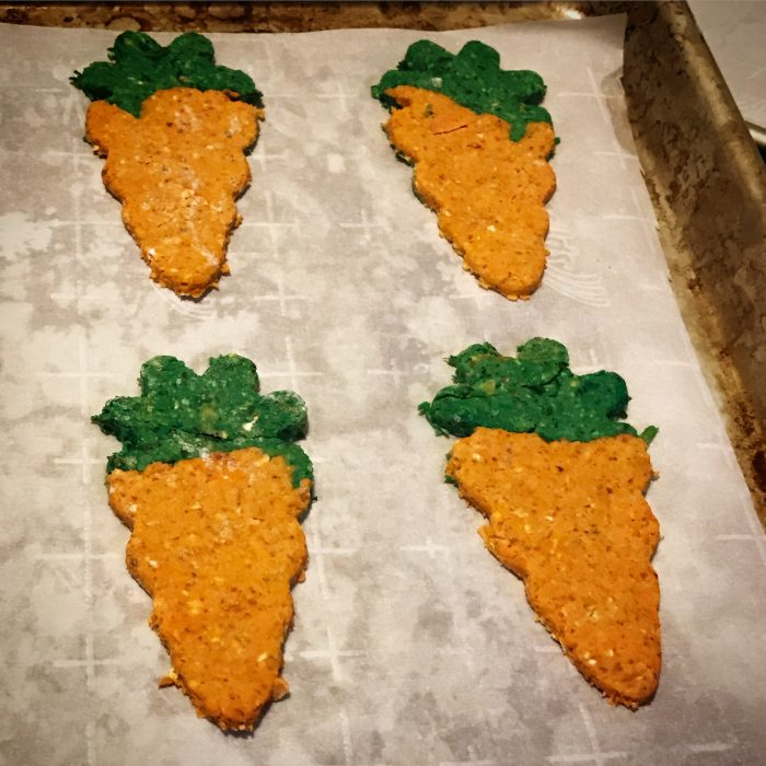 carrot cookies dog treat recipe