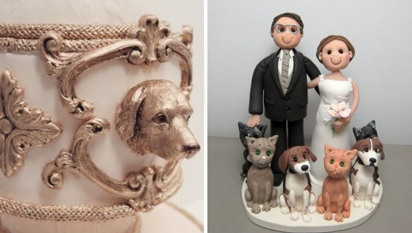 19 Cake Toppers for Dog Lovers That Will Have You Hearing Wedding Bells