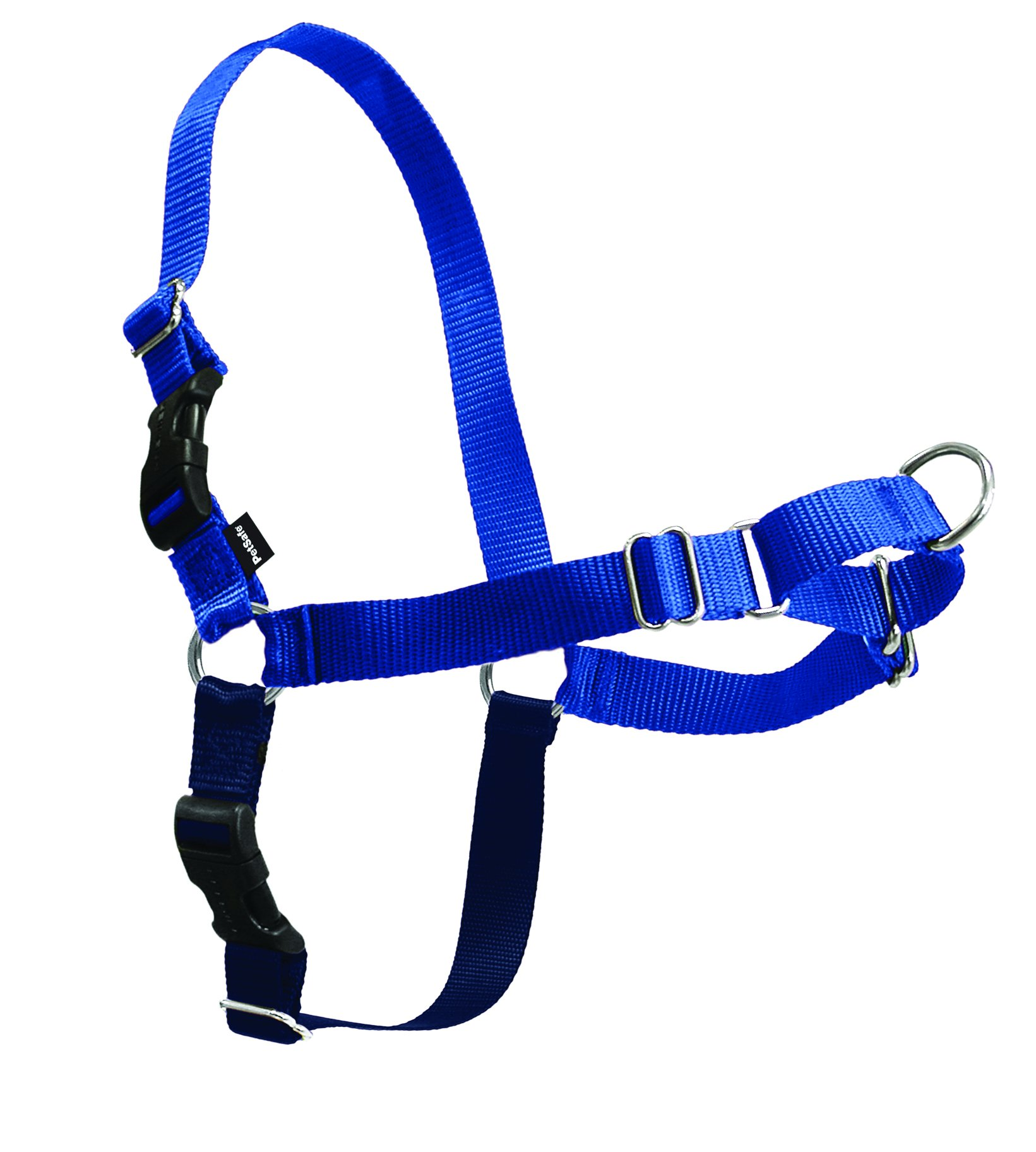 blue and black Easy Walk harness
