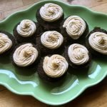 homemade carob cupcakes with peanut butter frosting recipe HERO