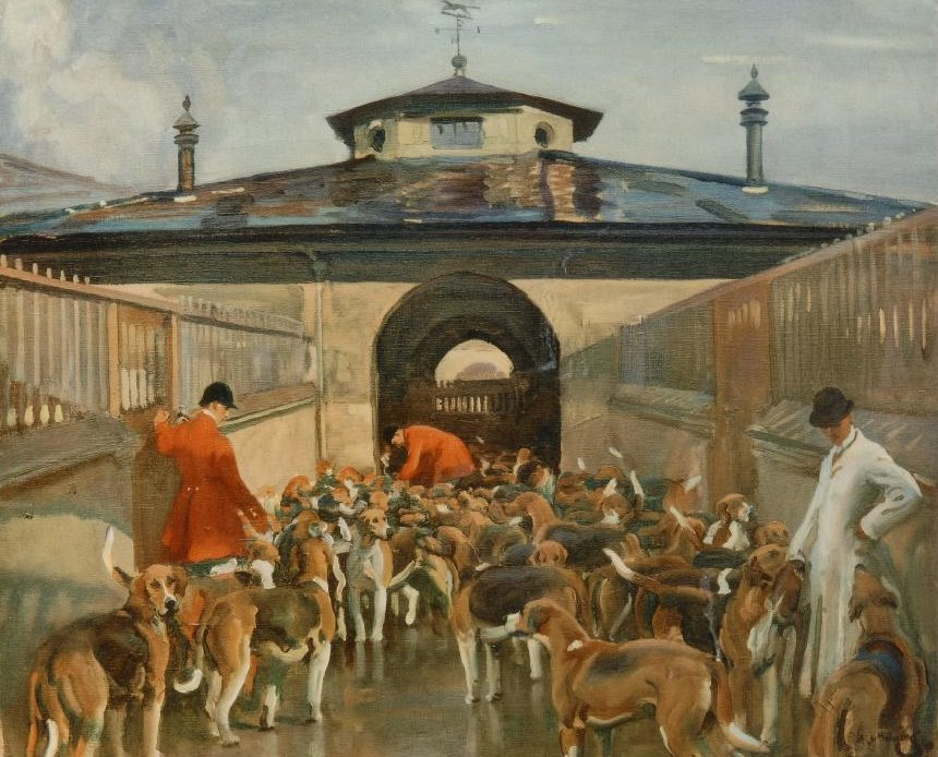belvoir kennels by alfred munnings