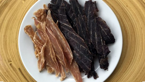 Homemade Chicken, Beef, and Salmon Dog Jerky Treats Couldn't Be Easier to Make