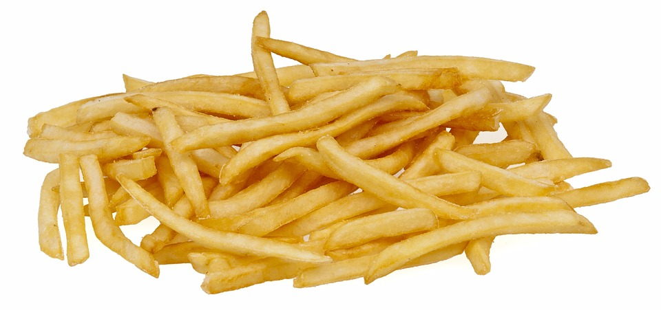 A pile of fast food french fries