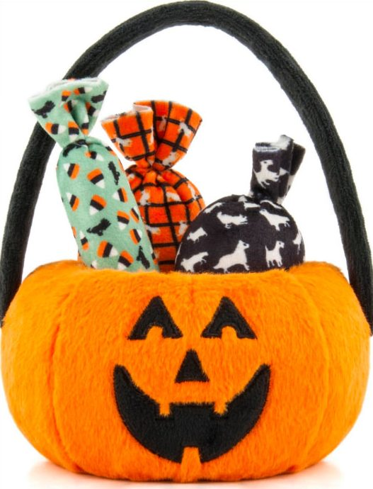 PLAY pumpkin trick or treat Halloween dog toy