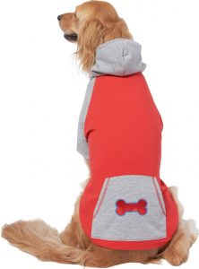 red and gray Wagatude pocket raglan sweater