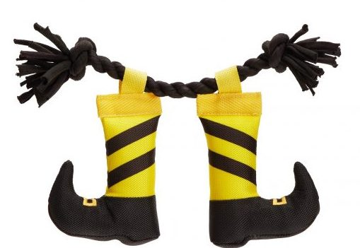 Witch legs plush Halloween dog toy