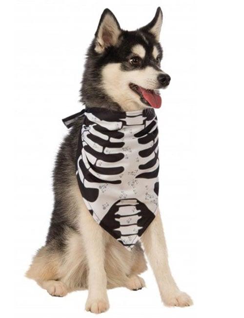 halloween skeleton bandana for dogs