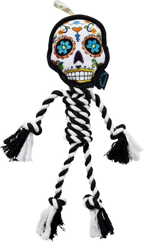 Sugar skull Halloween dog toy