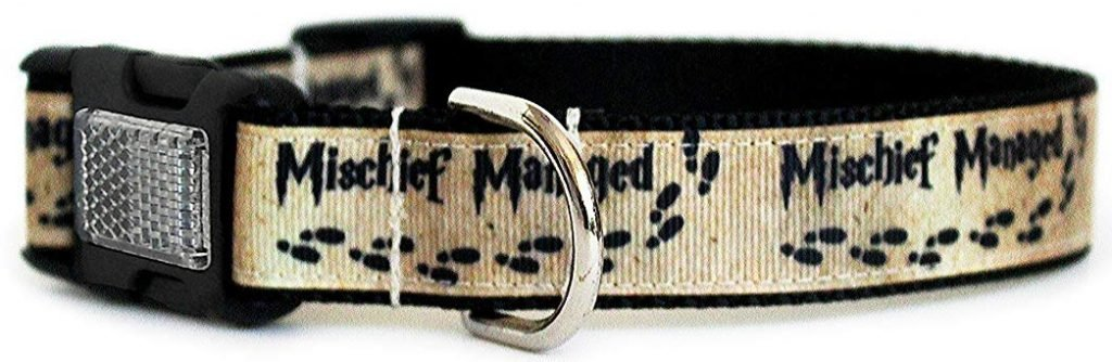 mischief managed harry potter dog collar