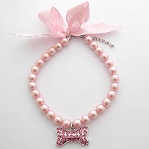 PetFavorites pink pearl dog collar