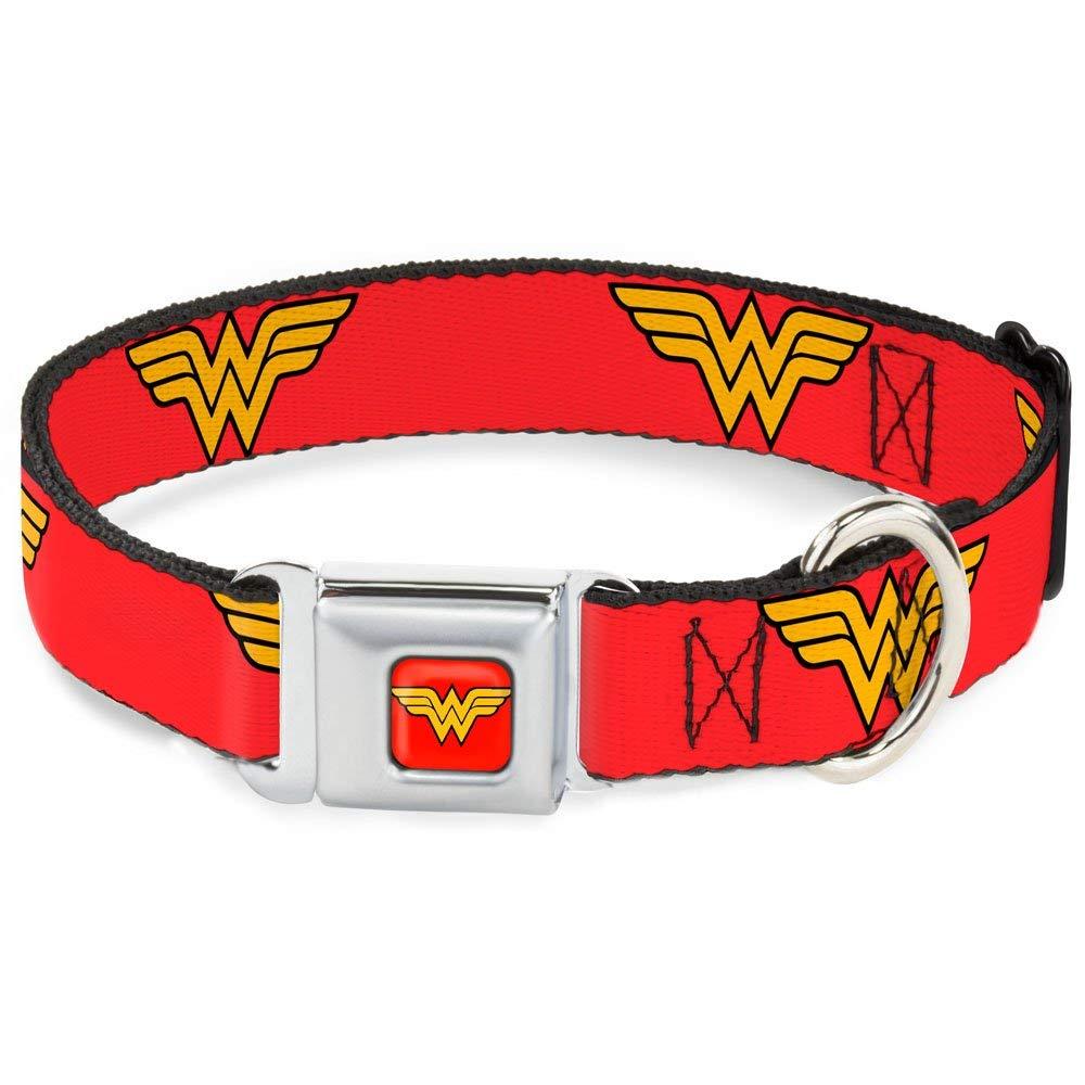 Wonder Woman print dog collar