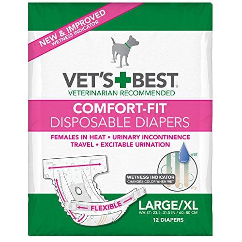 Vet's Best Comfort Fit disposable dog diapers