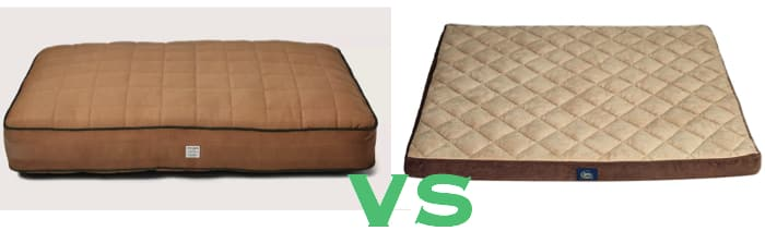 Filson large dog bed vs a cheaper Serta bed