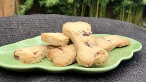 toasted coconut cranberry shortbread for dogs