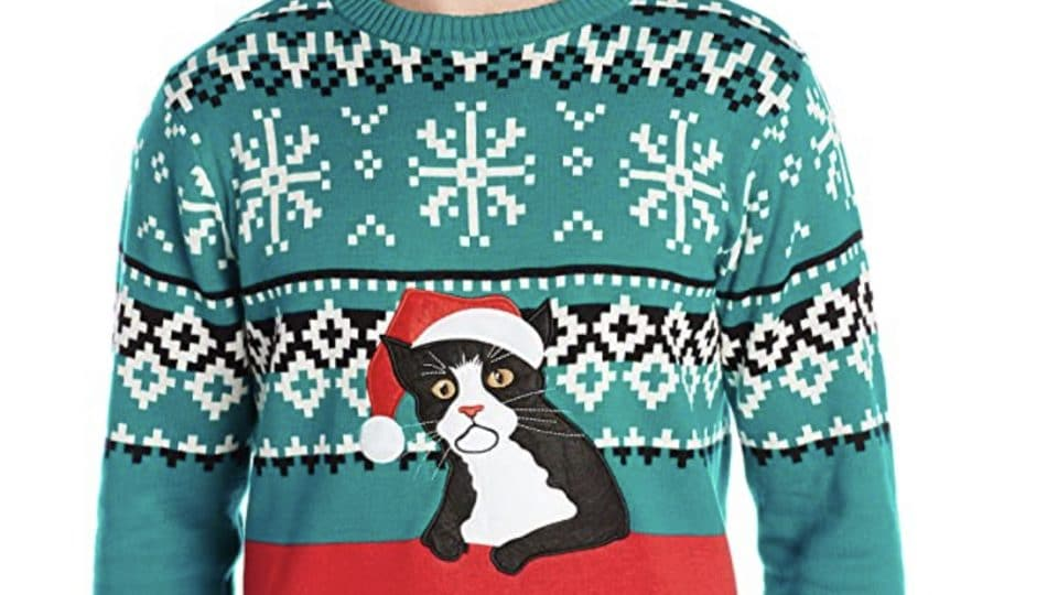 fair isle cat sweater