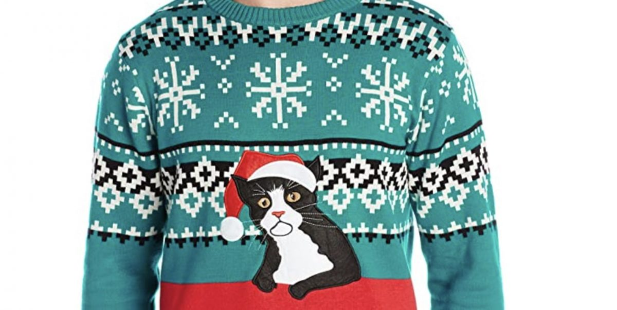 Christmas Cat Sweaters The Festive The Cute And The Ugly