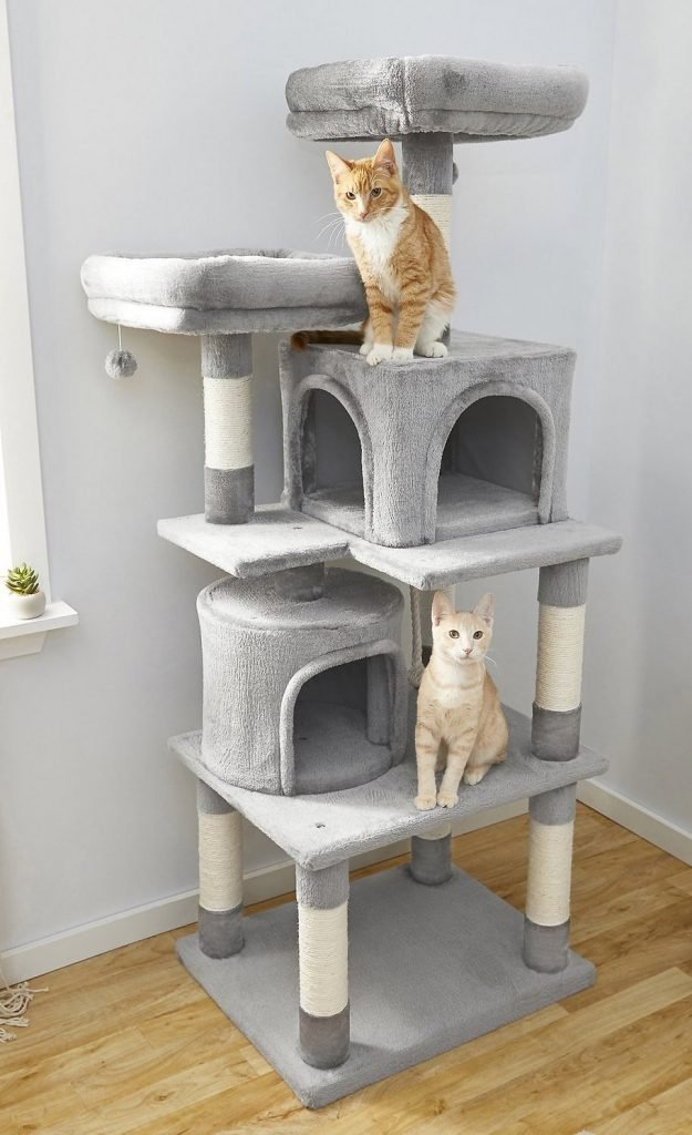Frisco gray cat tower
