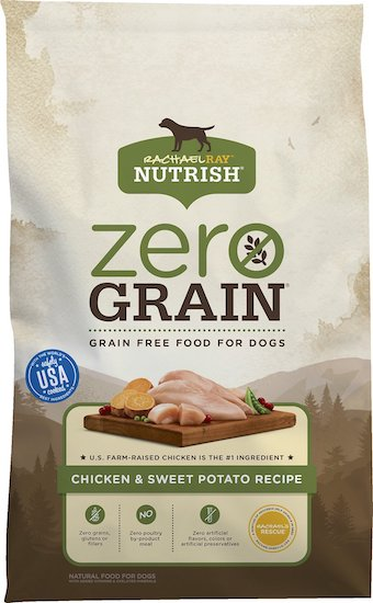 bag of Rachel Ray Nutrish grain free dog food