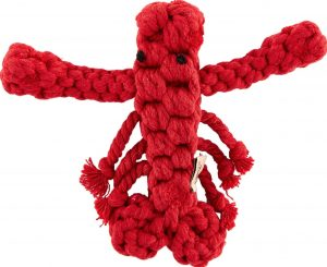 Jax and Bones Louie the Lobster Rope Dog Toy