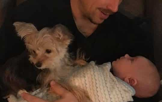 Tiny Puppy Adopted by Pregnant Couple Is Growing Up with 'Her' Baby and It's Perfection