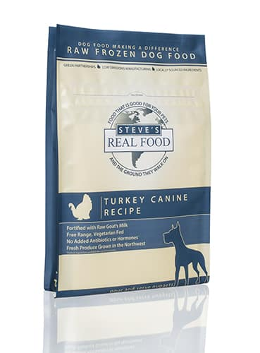 Steve's real food frozen raw dog food