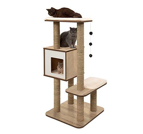 Vesper sisal and wood cat tree and condo
