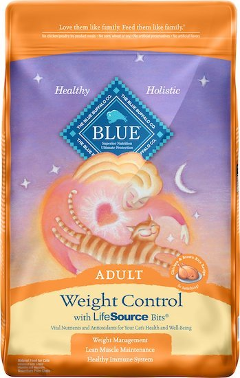 Blue weight cat food