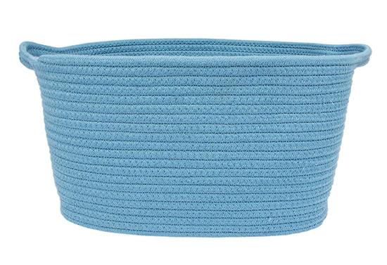 light blue cotton rope toy bin