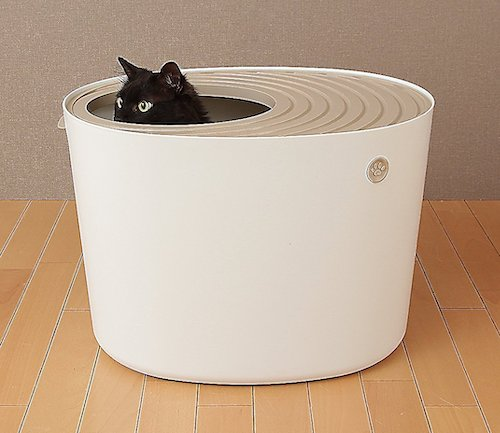 Iris top-entry litter box for picky cats