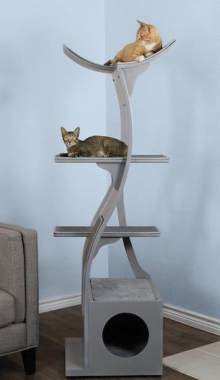 gray Refined Feline Lotus tower