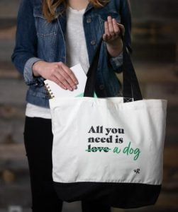 """""""All you need is a dog"""" tote bag"""