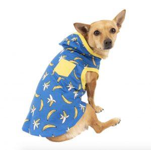 Vibrant Life banana print dog hoodie