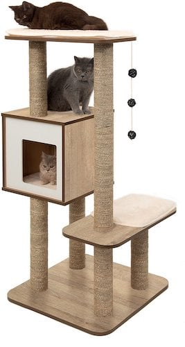 Vesper condo with cats in and on it